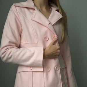 New York& Company pink peacoat